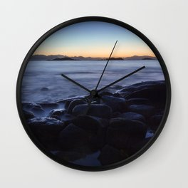Blue Hour With a Touch of Gold Wall Clock