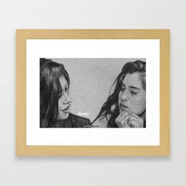 Camren Pencil Sketch  Framed Art Print