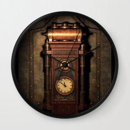 Steampunk Generator Bronze Wall Clock
