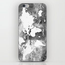 The world's most beautiful ports, map iPhone Skin