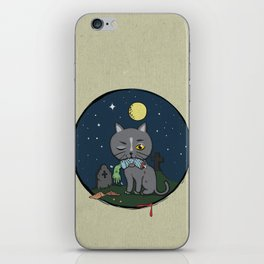 Cats love zombie meat! iPhone Skin