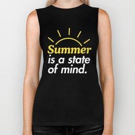 Summer is a State of Mind Biker Tank