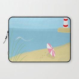 Summer sea day at the beach modern contemporary art illustration Laptop Sleeve