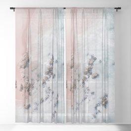 sea bliss Sheer Curtain