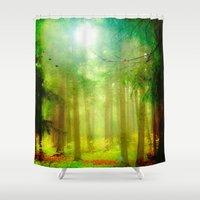 fairy tale Shower Curtains featuring Fairy tale by Armine Nersisian
