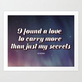 lyrics Art Print