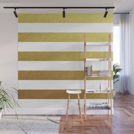 gold stripes Wall Mural