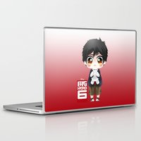 big hero 6 Laptop & iPad Skins featuring Big Hero 6 - Hiro Hamada by Yorlenisama
