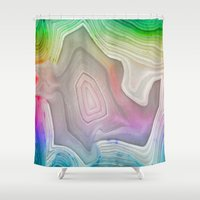 minerals Shower Curtains featuring MINERAL RAINBOW by Catspaws