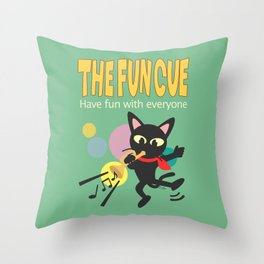 The fun cue Throw Pillow