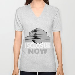 Disclosure Now UFO Alien Galactic Federation Tees Unisex V-Neck