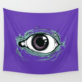 """I See You"" Purple Pattern Wall Tapestry"