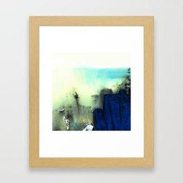 blue rock Framed Art Print