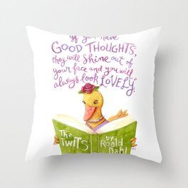 No Ugly Duckling Throw Pillow