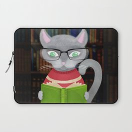 Kitty Corner Coffee And Reading Room Laptop Sleeve