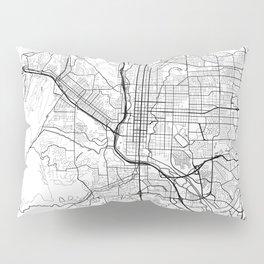 Colorado Springs Map White Pillow Sham