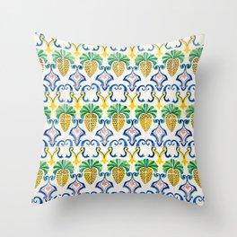Pineapple Tiles Throw Pillow