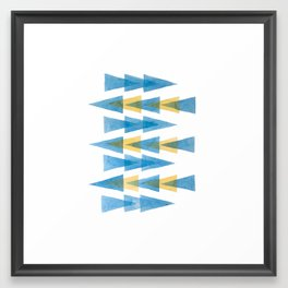Blue & Yellow Arrows Framed Art Print