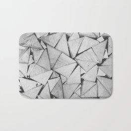Triangular Wood Pattern Bath Mat