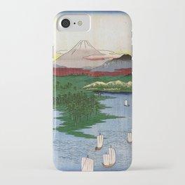 Noge and Yokohama by Hiroshige iPhone Case