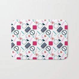 Contraception Pattern Bath Mat