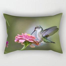 Tranquil Hummingbird Rectangular Pillow