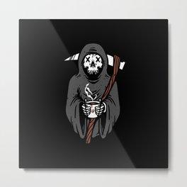 Coffee Reaper Metal Print