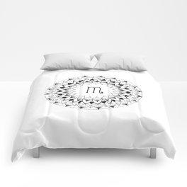 Scorpio Zodiac Mandala Comforters