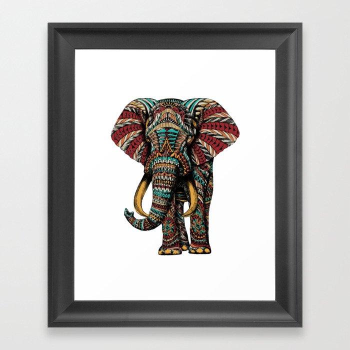 Ornate Elephant (Color Version) Gerahmter Kunstdruck