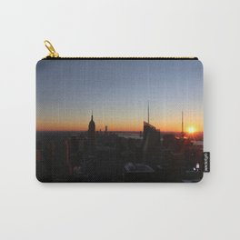 Downtown New York City Skyscrapers during Sunset in Winter Carry-All Pouch