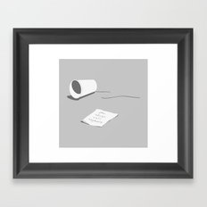You Never Call Anymore Framed Art Print