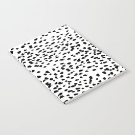 Dalmat-b&w-Animal print I Notebook
