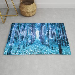 Magical Forest  Light Blue Turquoise Rug
