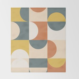 Mid Century Modern Geometric 23 Throw Blanket