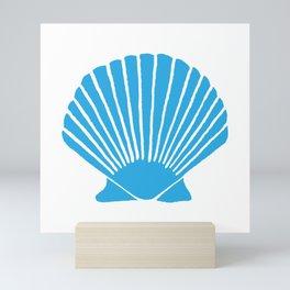 Blue Seashell Mini Art Print