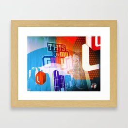 This is my city LS Framed Art Print