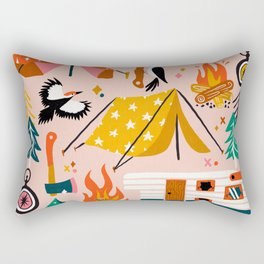 Camping Kit – Blush Palette Rectangular Pillow
