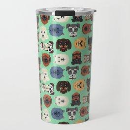 Dog dogs pet pets cute pattern Travel Mug