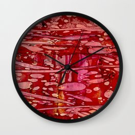 Red River Currents Wall Clock