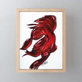 Art Doodle No. 36 Betta Fish Framed Mini Art Print