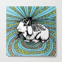 Patrick Swayze the rabbit Metal Print