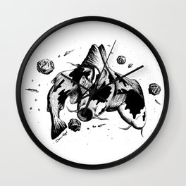 Koi Fish Space Eater Wall Clock