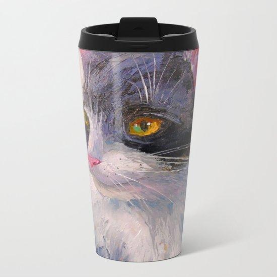 A lovely cat Metal Travel Mug