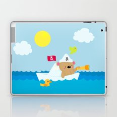 Bear in paper boat Laptop & iPad Skin
