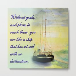 Without goals and plans Metal Print