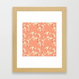 Cherry Blossoms in Coral Framed Art Print