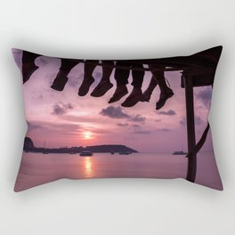 Sitting on the dock of the bay Rectangular Pillow