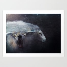 Wolf In Sheep's Clothing Art Print