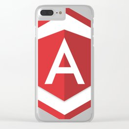 angularjs developer angular.js framework logo sticker Clear iPhone Case