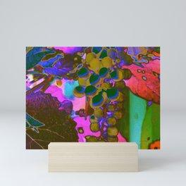 Vibrant Colorful Grapes & Vines Mini Art Print